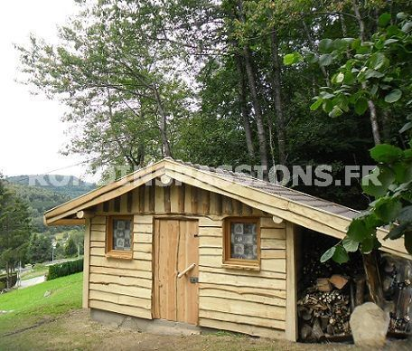 abris jardin bois